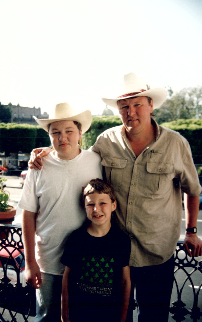 Erik, Dad and Lars in Mexico in the spring of 1994.